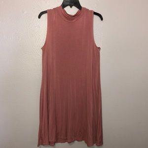 pink mid length dress